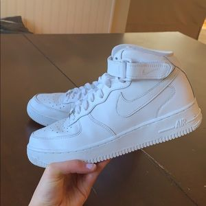 Nike Air Force 1 - MID RISE all white